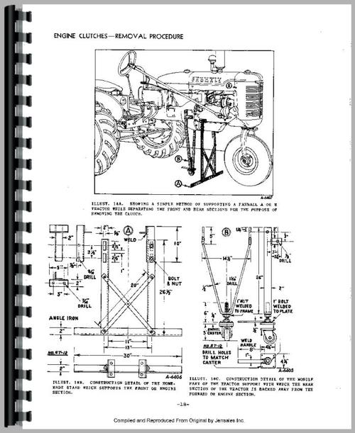 International Harvester 3616 Tractor Clutch Service Manual
