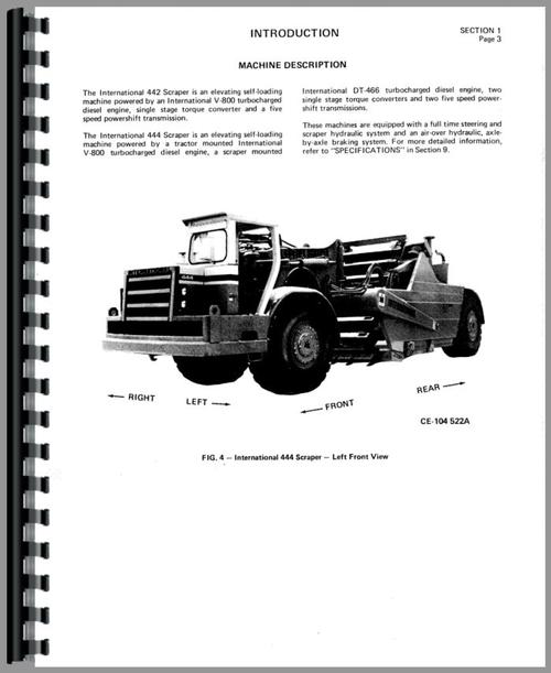 International Harvester 433 Pay Scraper Operators Manual