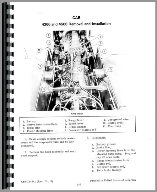 International Harvester 4366 Tractor Service Manual