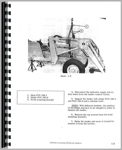 International Harvester 4500A Forklift Service Manual