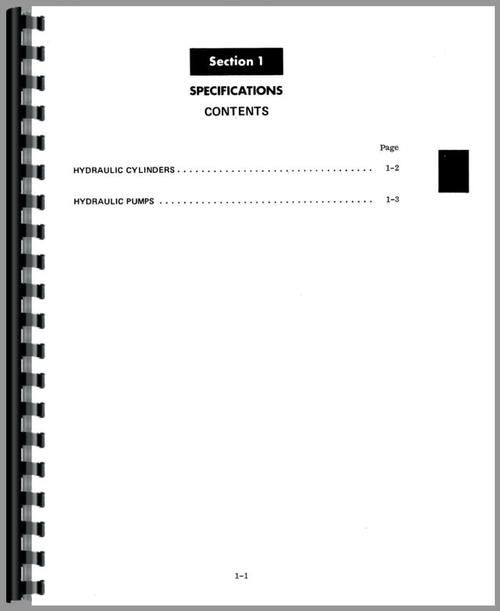 International Harvester 4500B Forklift Service Manual