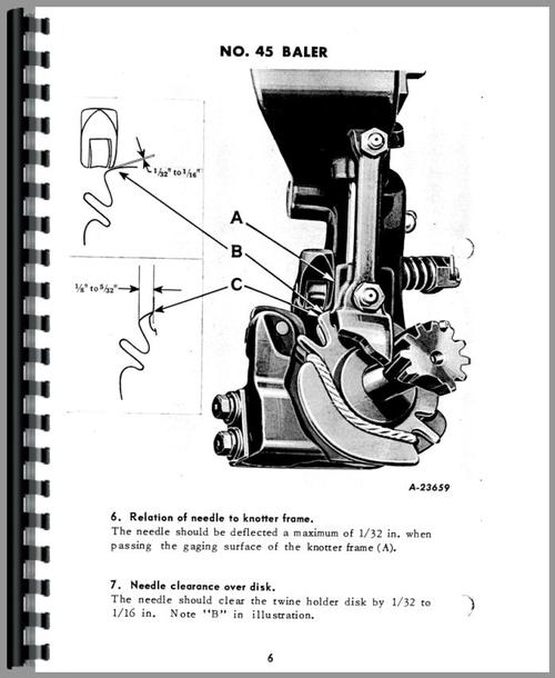 International Harvester 55T Baler Service Manual