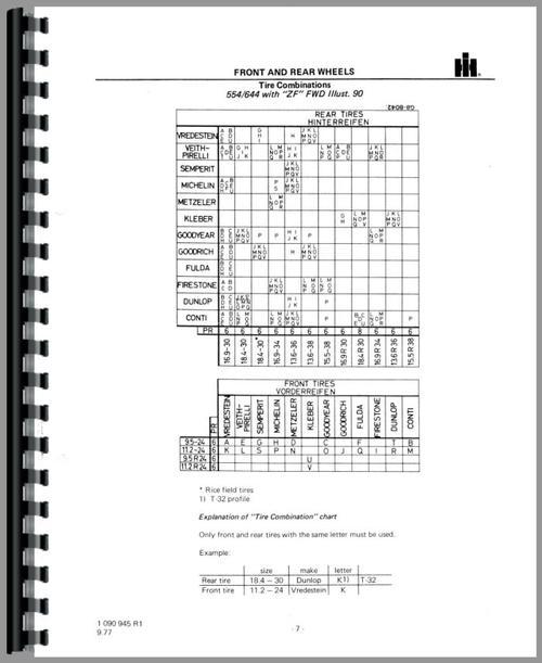 International Harvester 644 Tractor Service Manual