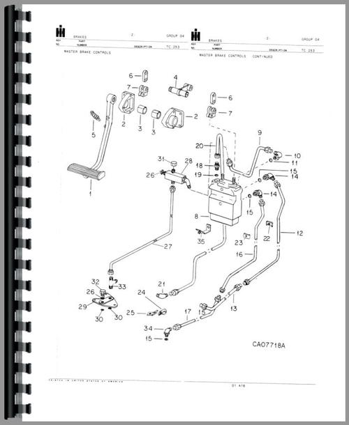 International Harvester 6788 Tractor Parts Manual
