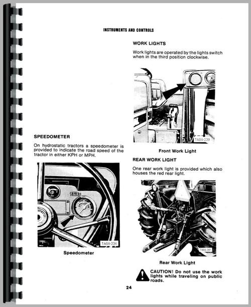 International Harvester 684 Tractor Operators Manual