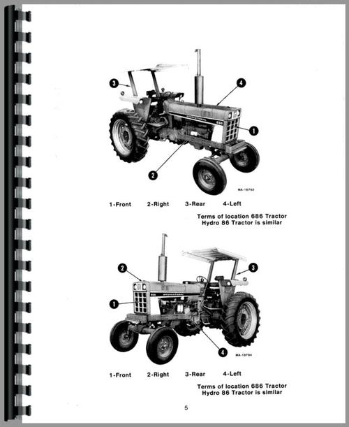 International Harvester 686 Tractor Operators Manual