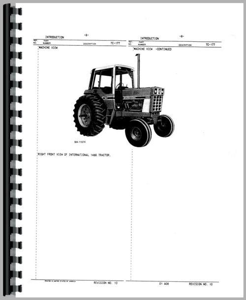 International Harvester 886 Tractor Parts Manual