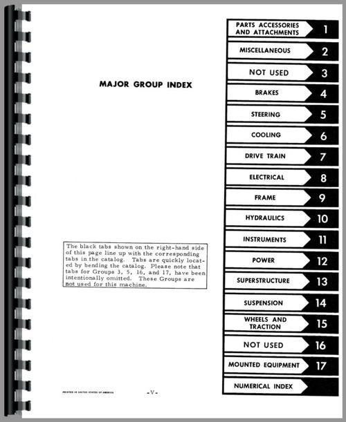 International Harvester 9000 Forklift Parts Manual