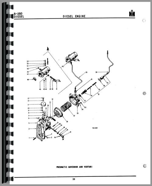 International Harvester B-250 Tractor Parts Manual