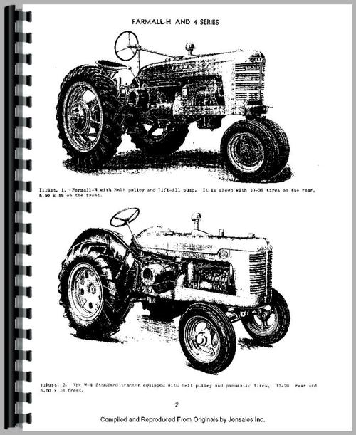 International Harvester I-4 Industrial Tractor Service Manual