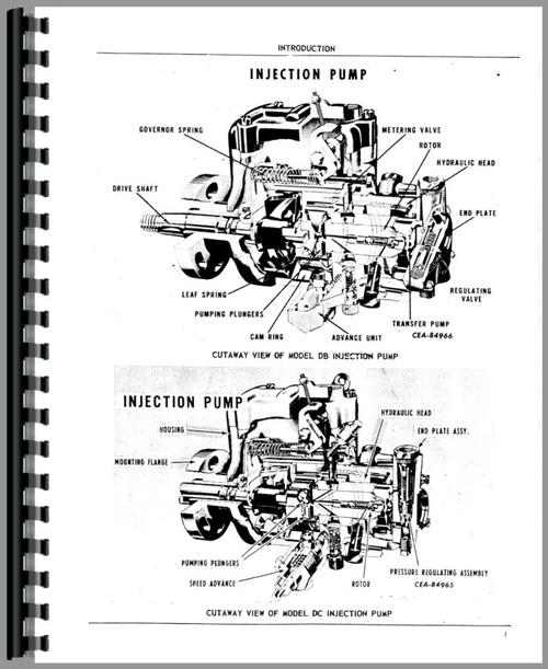 International Harvester Roosa Master Injection Pump Parts