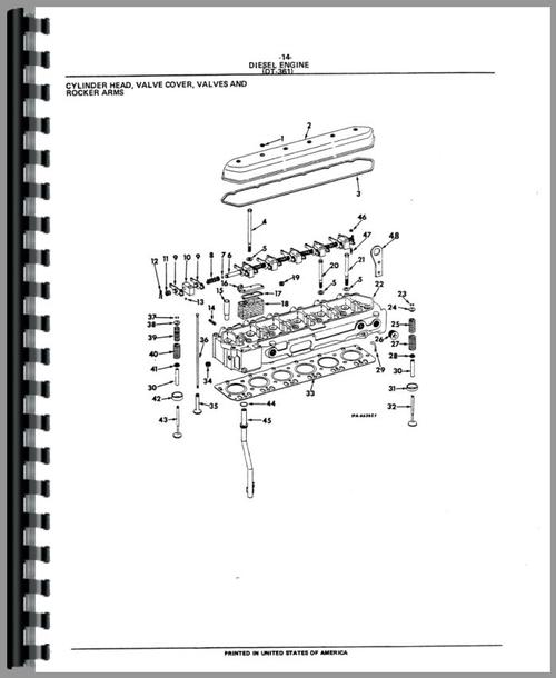 International Harvester TD15B Crawler Parts Manual