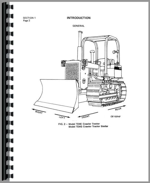 International Harvester TD8G Crawler Service Manual