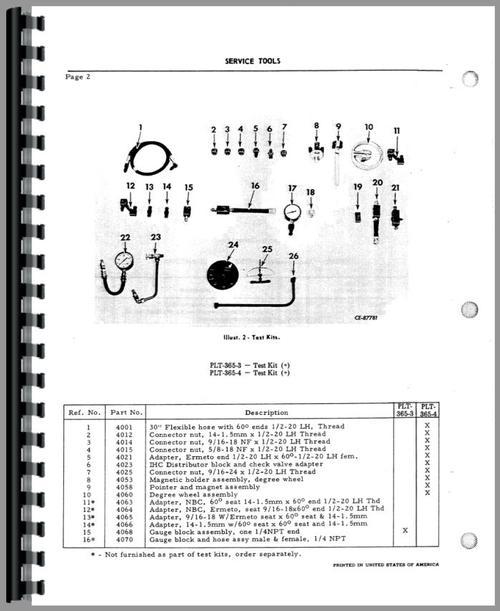 International Harvester TD9 Crawler Diesel Pump Service Manual