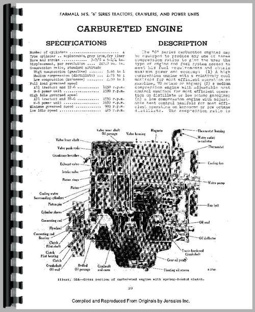 International Harvester U6 Power Unit Service Manual