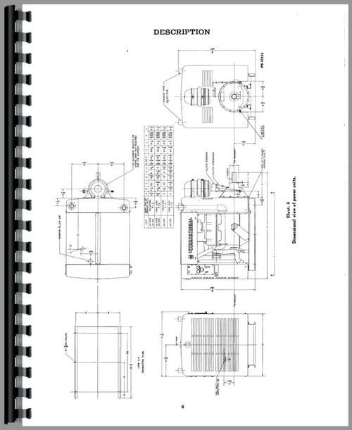 International Harvester UV549 Power Unit Operators Manual
