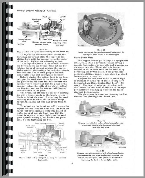 International Harvester 249 Planter Operators Manual