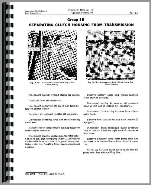 John Deere 1020 Tractor Service Manual
