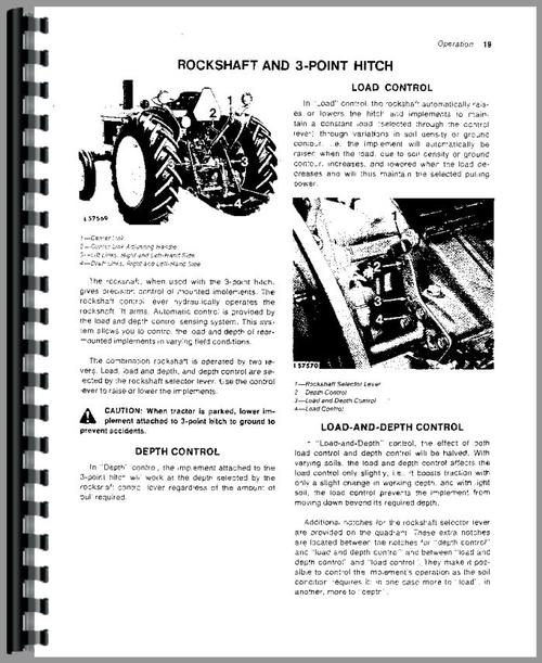 John Deere 1030 Tractor Operators Manual