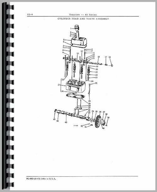 John Deere 40U Tractor Parts Manual