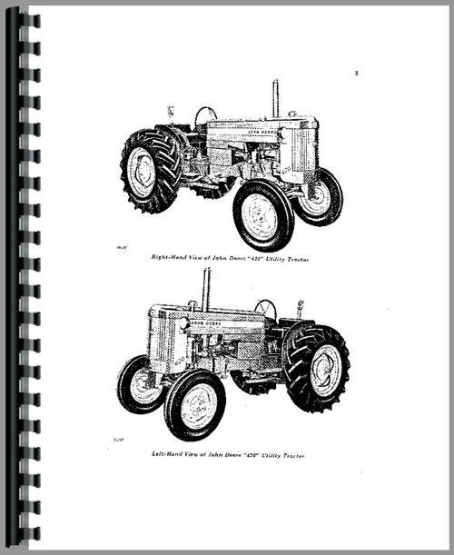 John Deere 420U Tractor Operators Manual