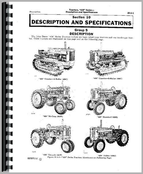 John Deere 435 Tractor Service Manual