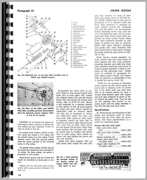 John Deere 440ICD Crawler Service Manual