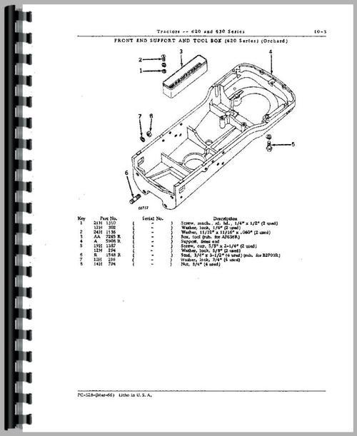 John Deere 630 Tractor Parts Manual