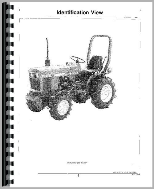 John Deere 650 Tractor Operators Manual