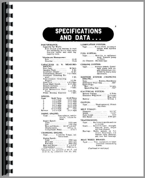 John Deere 70 Tractor Operators Manual