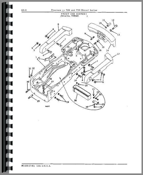 John Deere 730 Tractor Parts Manual