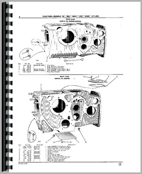 John Deere B Tractor Parts Manual