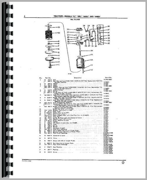 John Deere HWH Tractor Parts Manual
