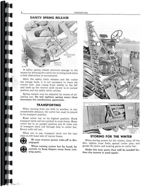 John Deere 10 Mower Operators Manual