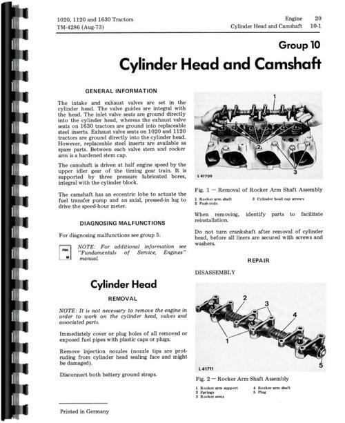 John Deere 1120 Tractor Service Manual
