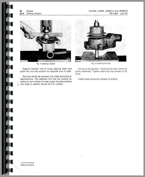 John Deere 380 Forklift Service Manual