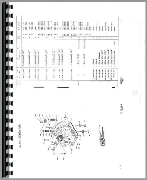 Komatsu D155A-1 Crawler Parts Manual