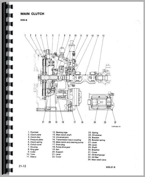 Komatsu D20P-6 Crawler Service Manual