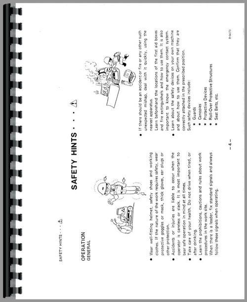 Komatsu D31A-17 Crawler Operators Manual