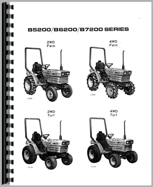 Kubota B6200D Tractor Operators Manual