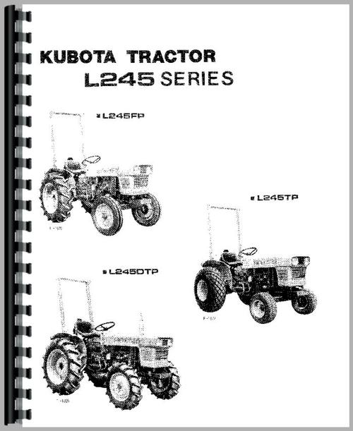 Kubota L245DT Tractor Operators Manual