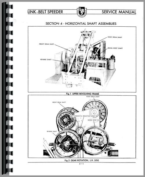 Link Belt Speeder LS-51 Drag Link or Crane Operators Manual