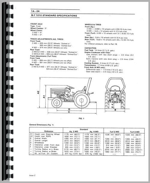 Massey Ferguson 1020 Tractor Service Manual
