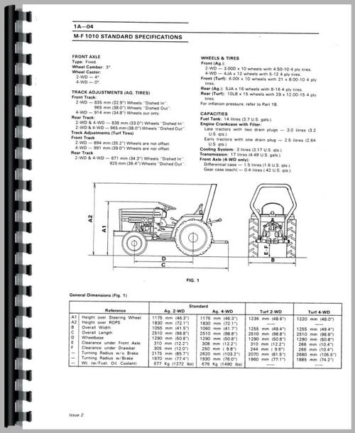 Massey Ferguson 1045 Tractor Service Manual