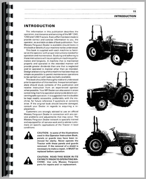 Massey Ferguson 1250 Tractor Parts Diagram