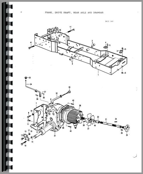 Massey Ferguson 1450 Lawn & Garden Tractor Parts Manual