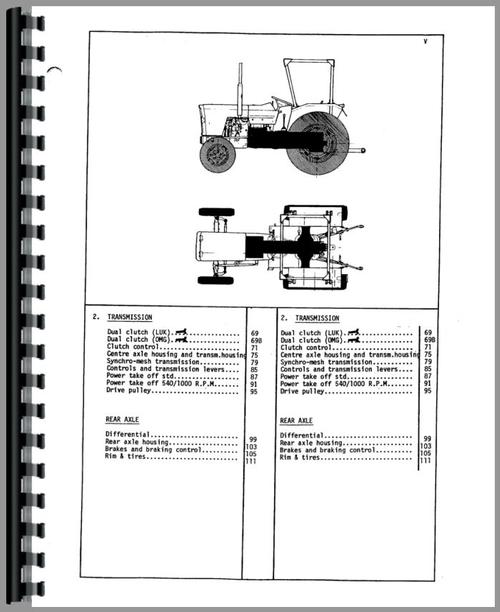 Massey Ferguson 154-4 Tractor Parts Manual