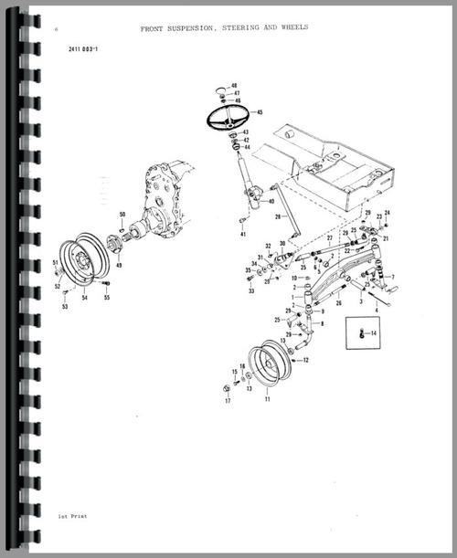Massey Ferguson 1650 Lawn & Garden Tractor Parts Manual
