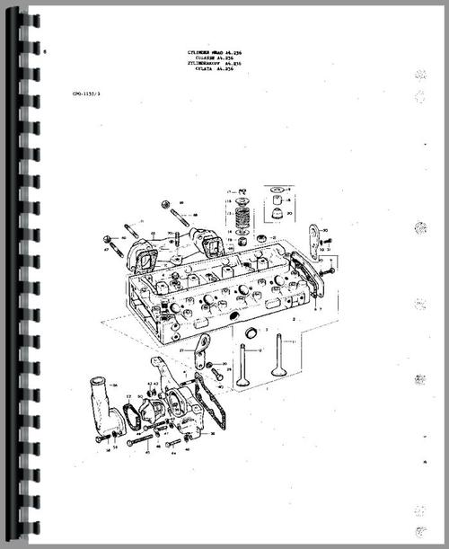 Massey Ferguson 175 Tractor Parts Manual