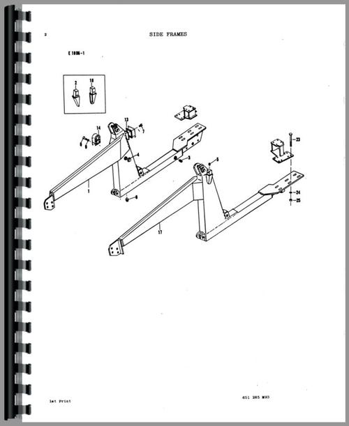 Massey Ferguson 20 Industrial Loader Attachment Parts Manual